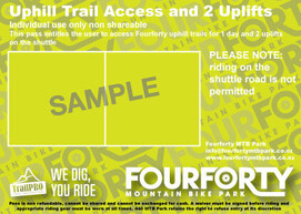 2 Uplifts and uphill trail access pass